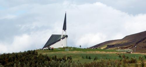 Church next to Laxnes horses farm