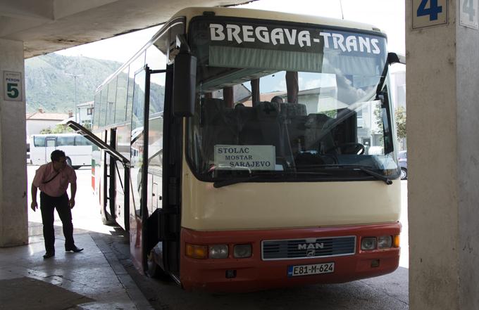 autocarro para Sarajevo