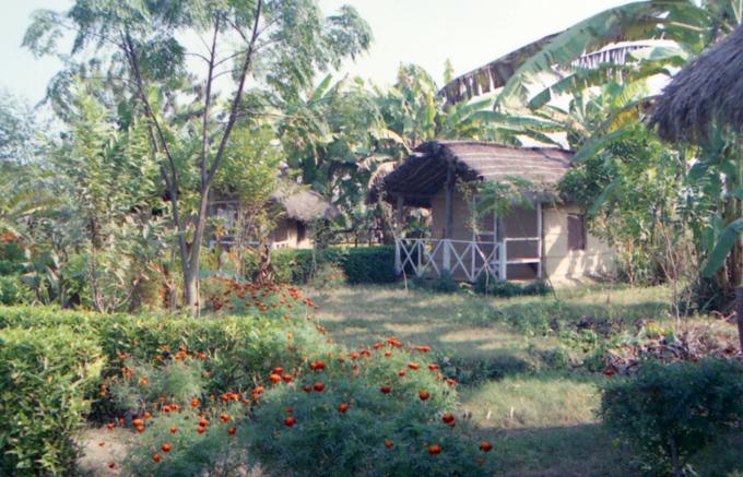 cabanas para os turistas