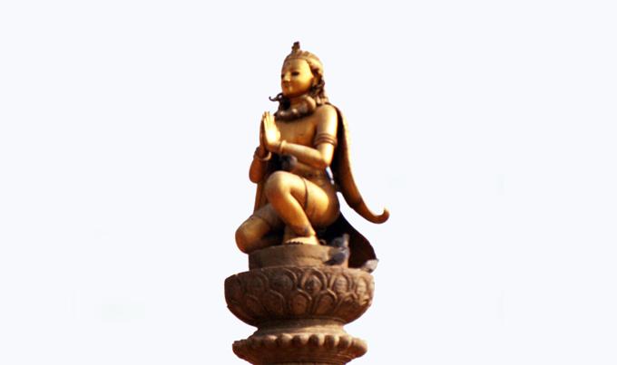 estátua na Yoganarendra Malla's Column