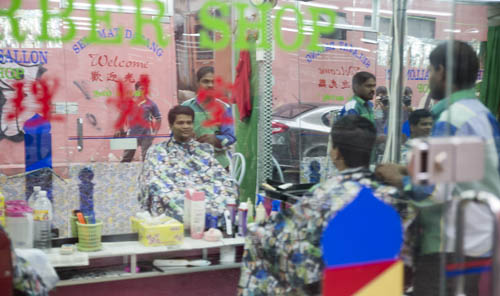 Barber in Golden Triangle