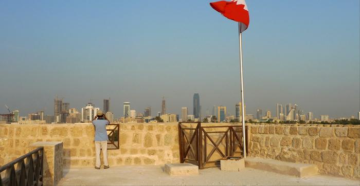 forte de Bahrain - vista para Manama