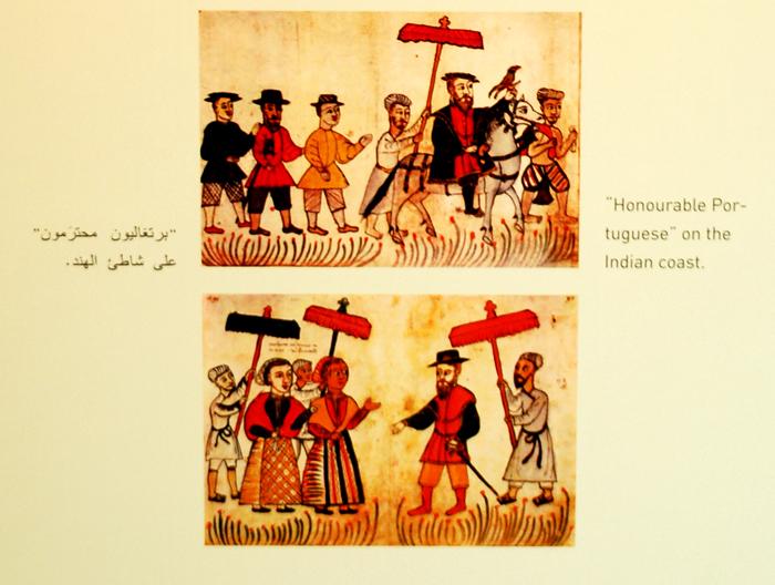 ilustração da presença dos portuguesess