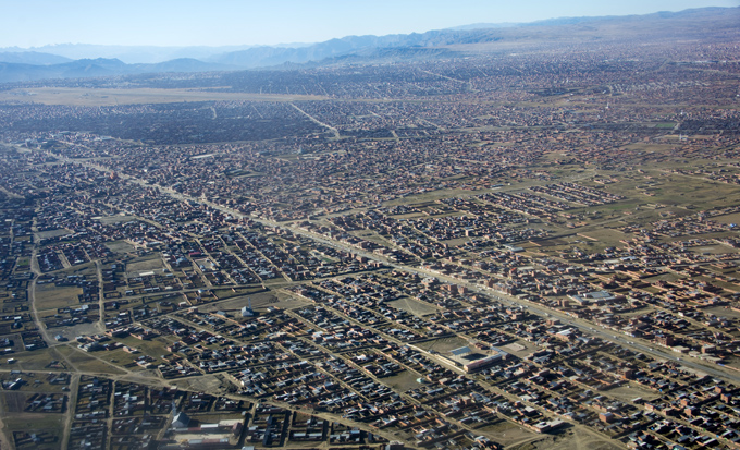 vista aérea de La Paz
