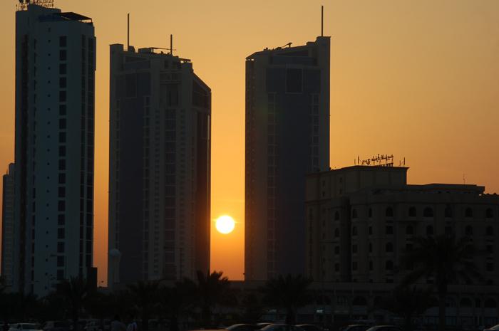 por do sol em Manama