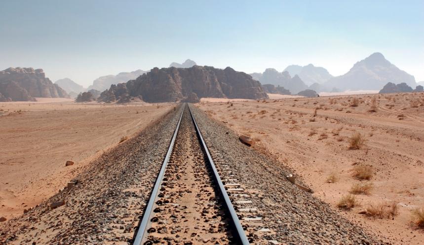 Wadi Rum - caminho ferro