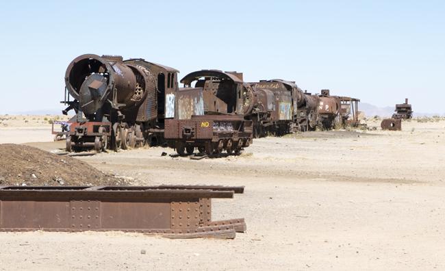 cemitério de comboios - Uyuni