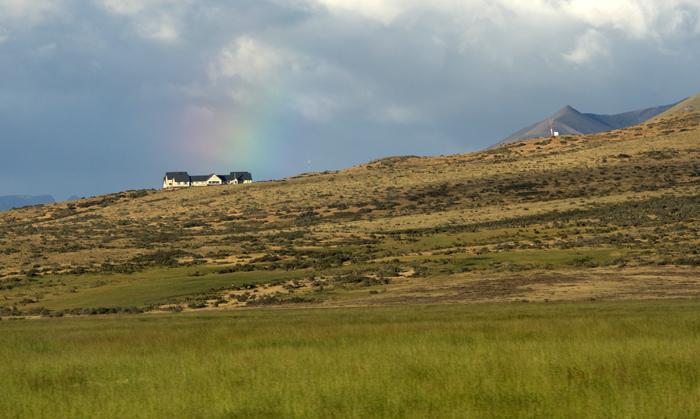 Vista da estrada de Calafate para Perito Moreno
