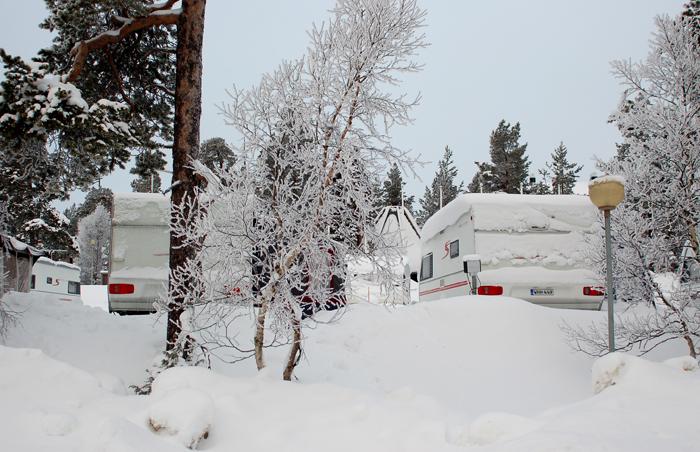 Parque de campismo em Saariselka