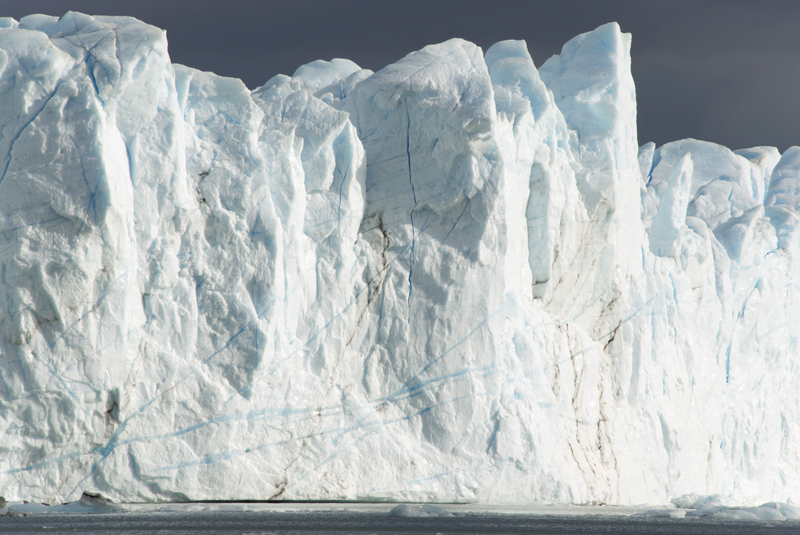 perspetiva da altura do Perito Moreno