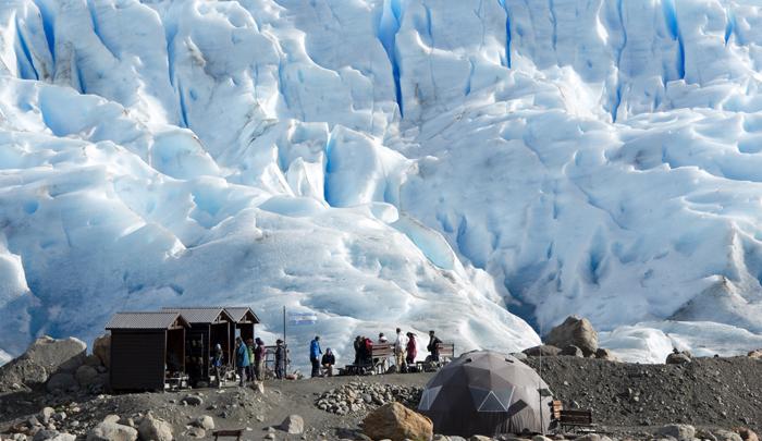 base para a caminhada no Perito Moreno