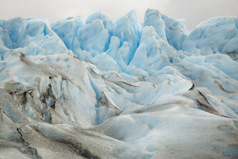 As cores do Perito Moreno