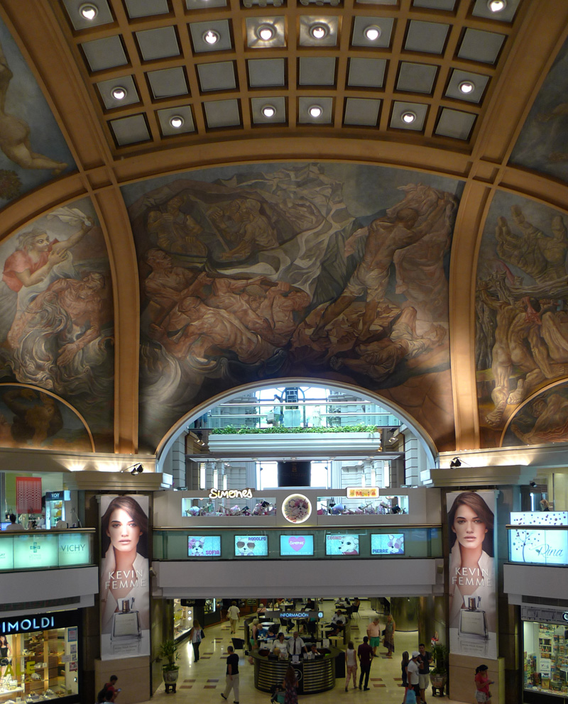 cúpula central nas galerias pacifico