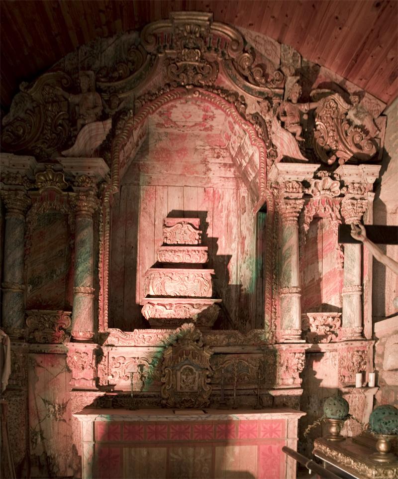 interior da igreja de S. Sebastião