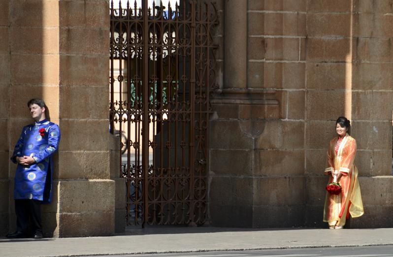 sessão fotográfica junto à catedral