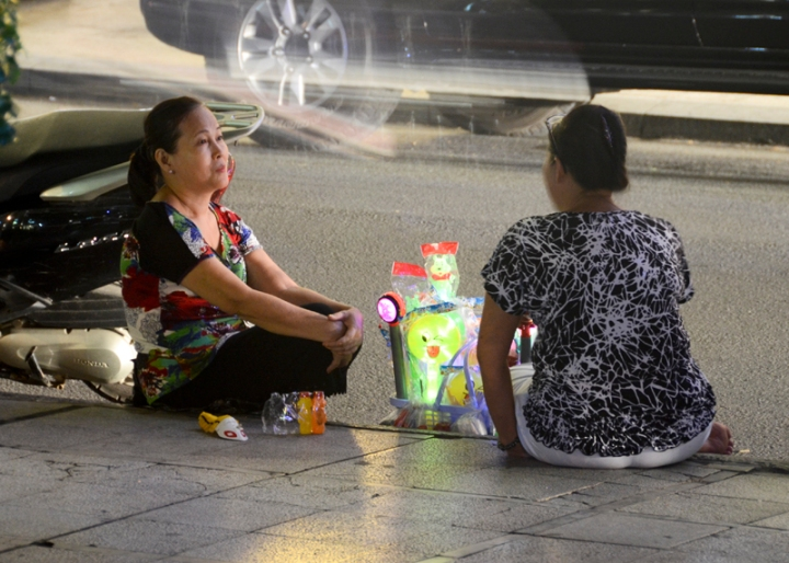 vendedoras na praça