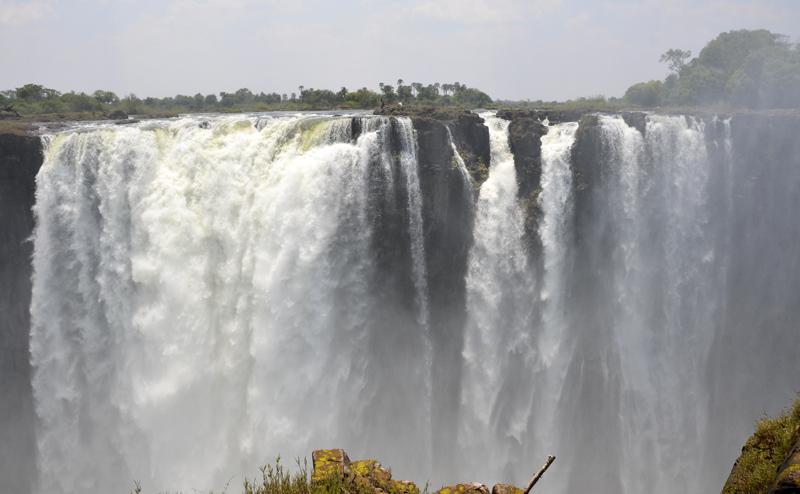 Devils Pool vista do Zimbabwe