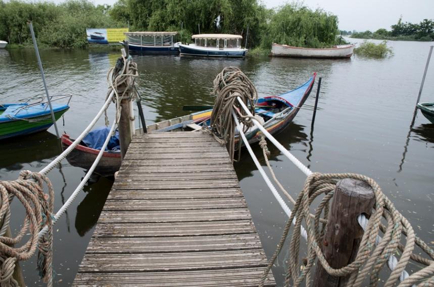 Cais e barcos de pesca