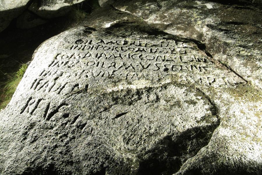 Inscrição no Cabeço das Fráguas - Cortesia, Instituto Arqueológico Alemão, Madrid