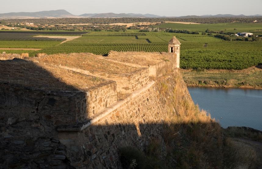 Vista para o Guadiana e Espanha