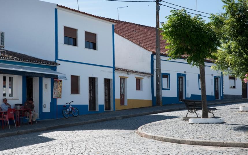 O largo principal em Santana do Campo