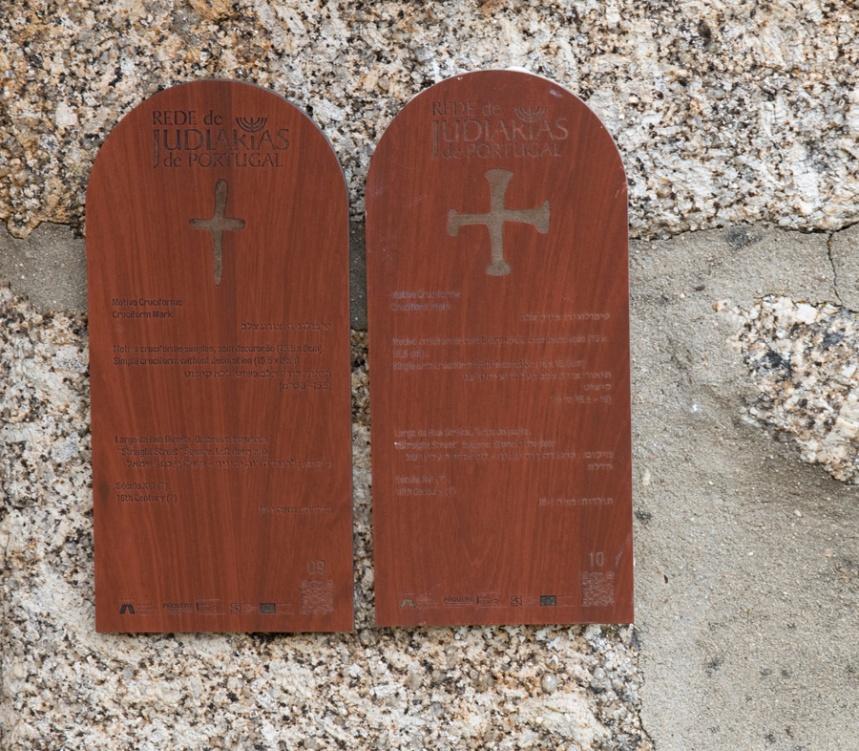 Cruciformes nas paredes das casas usadas por judeus