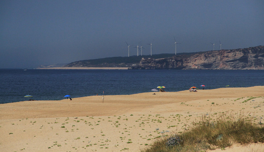 Praia do Salgado - cortesia CM Nazaré