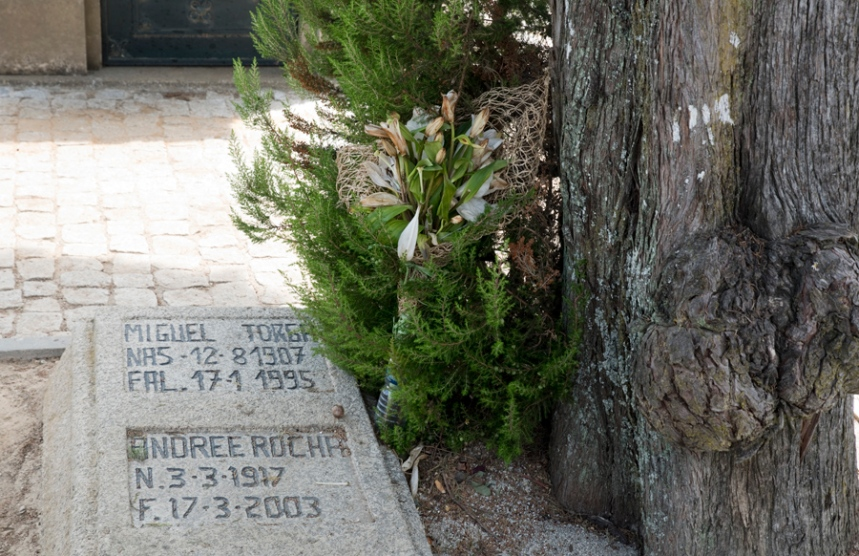 Uma torga junto à campa de M. Torga e Andree Rocha