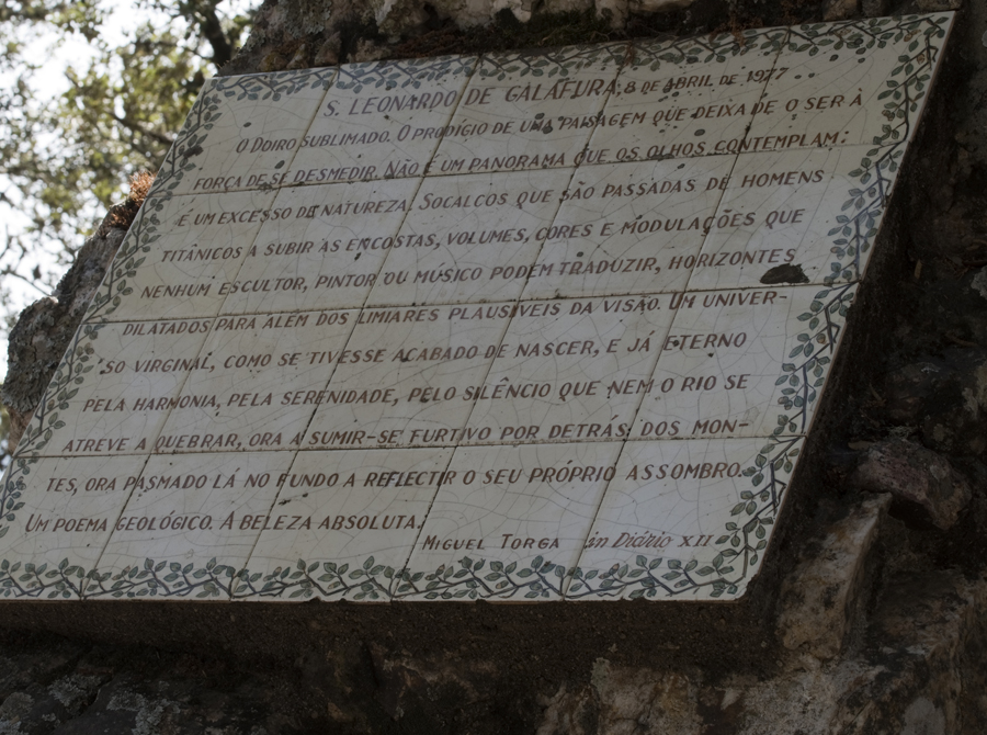 Texto de Miguel Torga sobre o miradouro