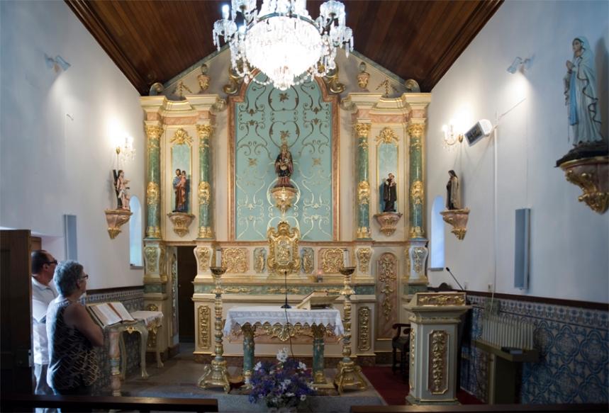 Interior da capela da Nossa Senhora da Esperança