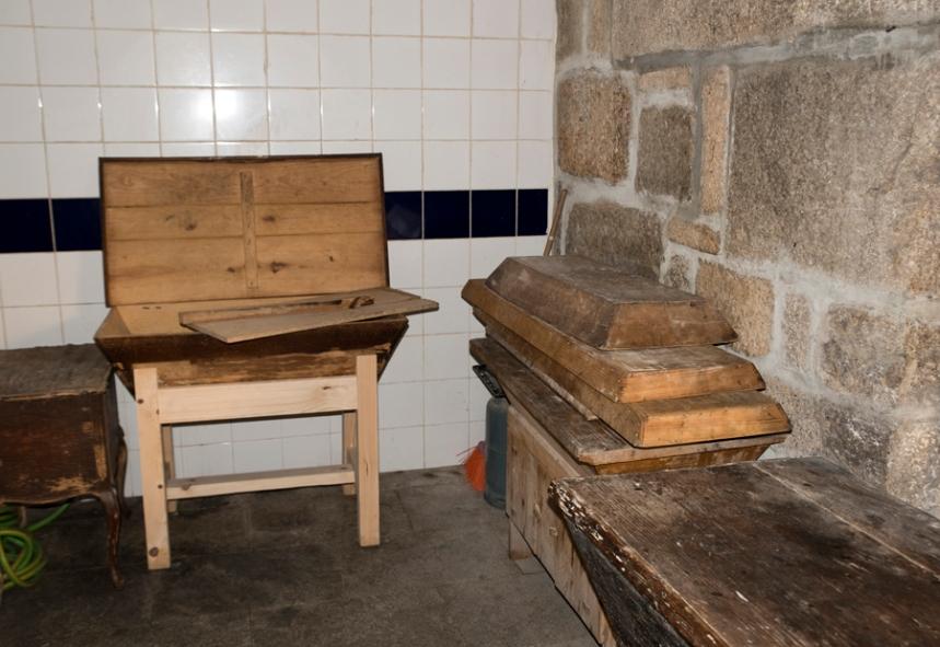 Sala onde é amassada a farinha