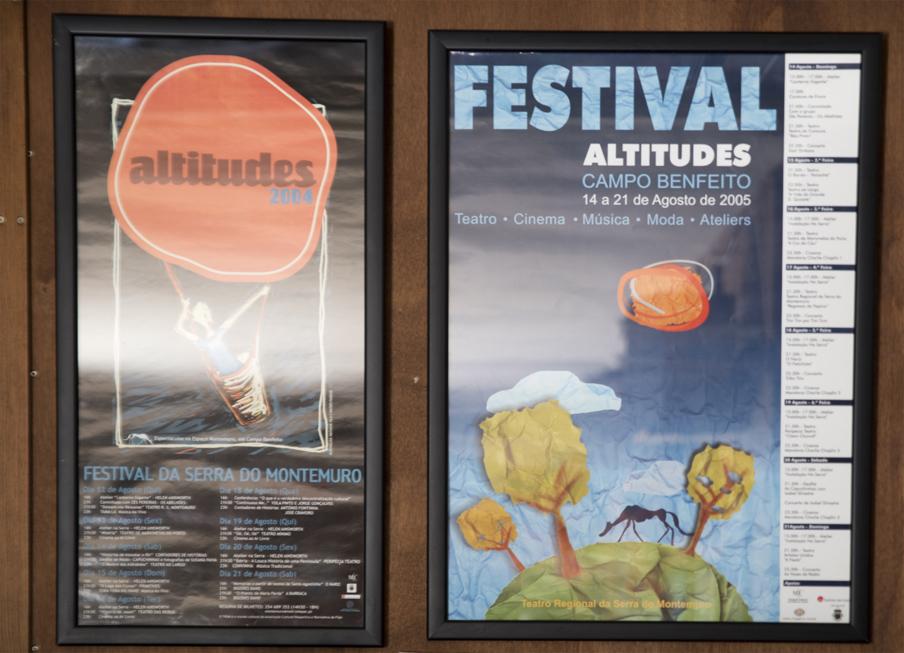 Cartazes de edições anteriores do Festival Altitudes
