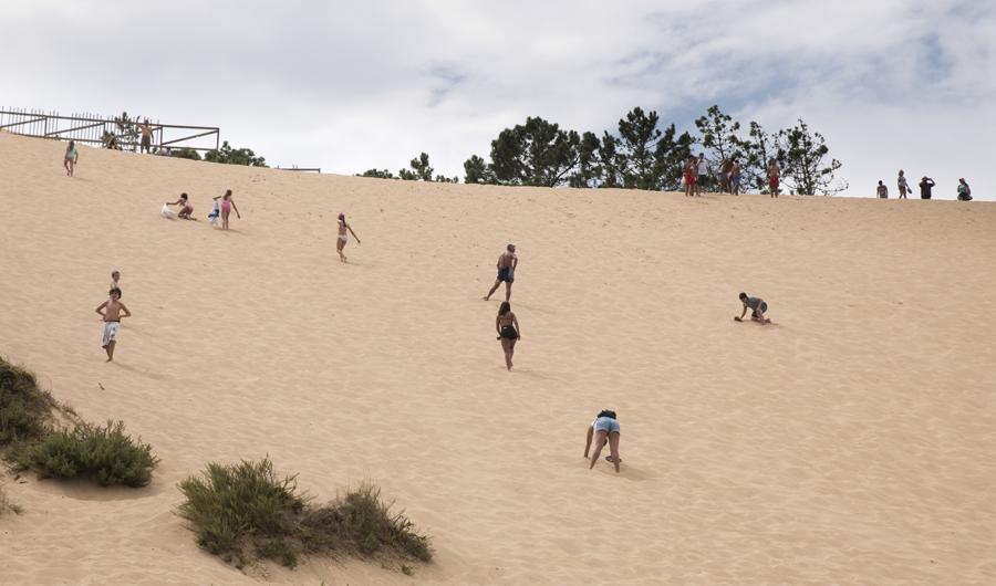 50 metros a subir na areias