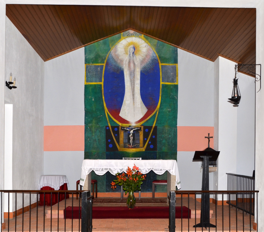 Pintura de Artur Bul na Igreja de Faias ©CM Montijo