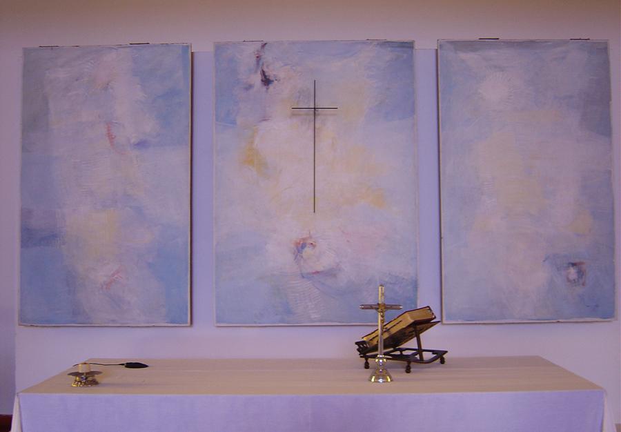 Tríptico de Artur Bual na igreja N. Senhora de Fátima em Pegões ©CM Montijo