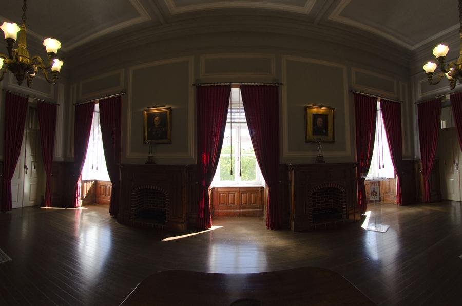 Salão agora utilizado para cerimónias militares