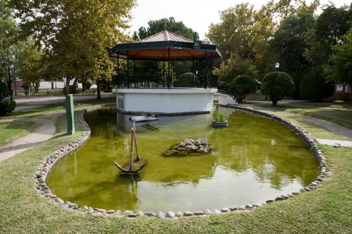 Jardim em frente da Fundação