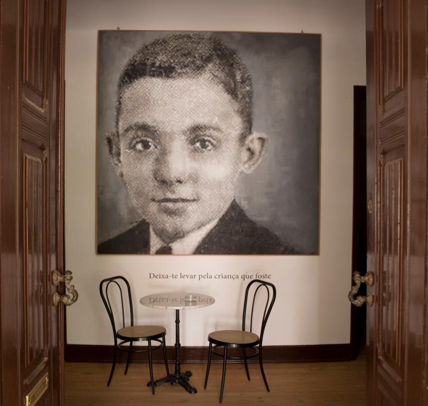 Entrada na Fundação José Saramago na Azinhaga
