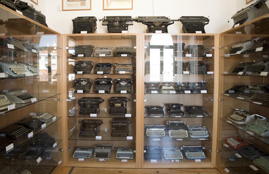 Colecção de máquinas em exposição