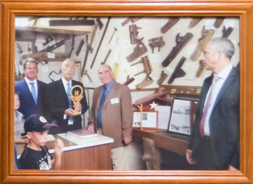 Fotografia da visita do Presidente da República