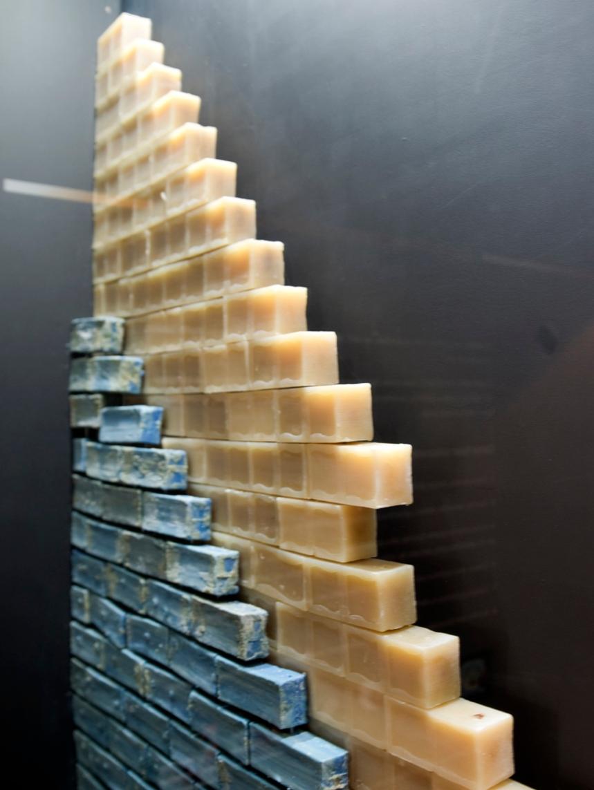 Sabão em exposição no museu