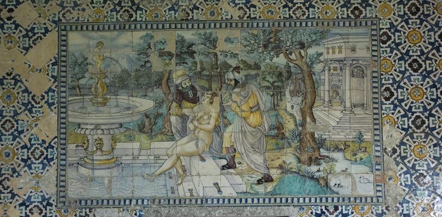 Painel de azulejo antigo