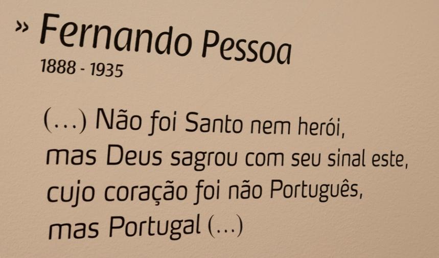 Citação de Fernando Pessoa na Casa Bandarra
