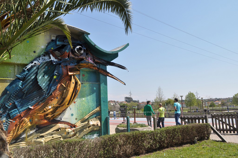"Bordalo II ""Guarda-Rios"" ©Câmara Municipal de Estarreja"