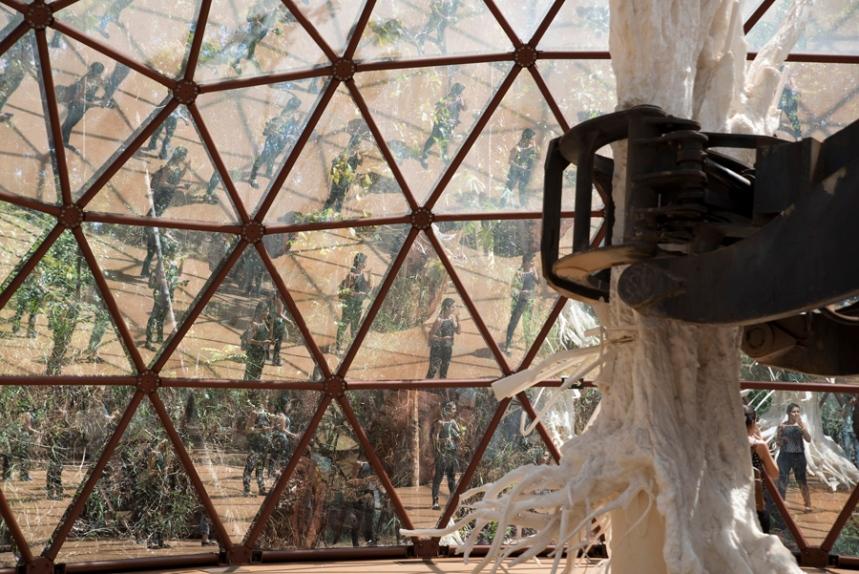 Interior do iglo de Matthew Barney