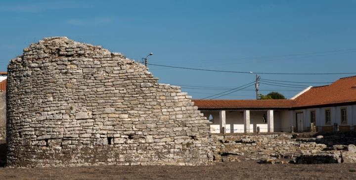 Ruínas de uma casa romana