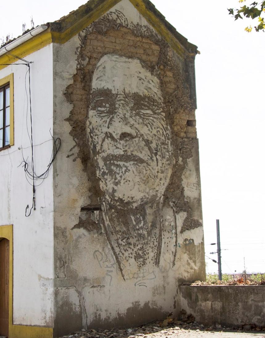 Vhils - D. Florinda ©Câmara Municipal de Estarreja