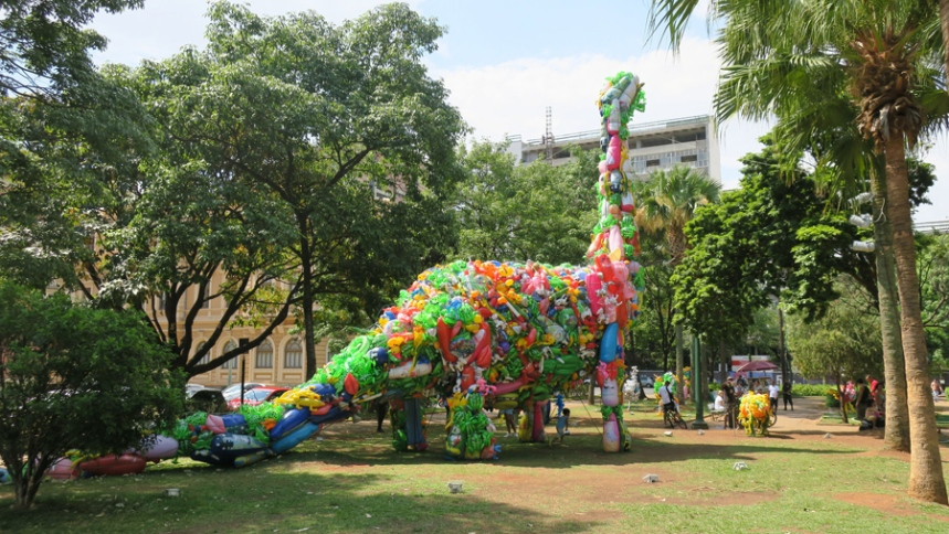 Parque na Praça da Liberdade