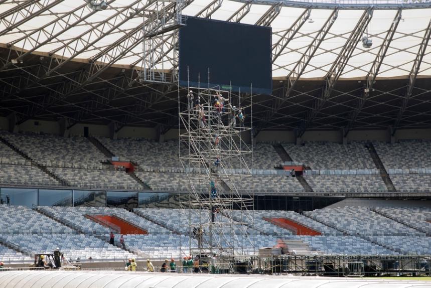 Preparativos para o derby local: Cruzeiro-Atlético Mineiro
