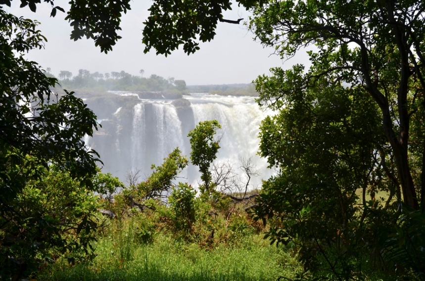 O percurso no Parque do Zimbabwe é mais verdejante